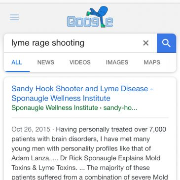 Lyme disease did not cause the Sandy Hook shooting