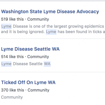 Washington: Lyme cases almost non-existent and greatly outnumbered by fictional cases