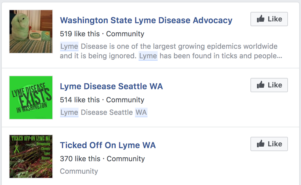 Washington: Lyme cases almost non-existent and greatly